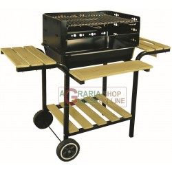 CHARCOAL GRILL IN STEEL GRIGLIARO WITH WOOD INSERTS MOD. OS1312