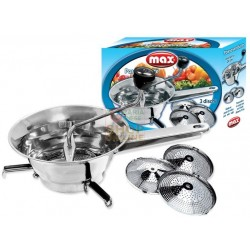 MAX MASHER STAINLESS STEEL WITH 3 DISCS, DIAMETER CM. 24