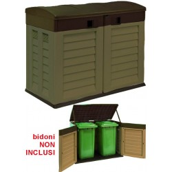 TRUNK GARDEN VIGOR DOUBLE DOOR OPENING GARBAGE CANS, cm.