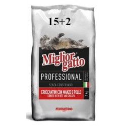 MIGLIORGATTO PROFESSIONAL DRY FOOD FOR CATS BEEF-CHICKEN KG. 15