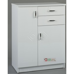 MOBILE BATHROOM RIGO WHITE TWO DOORS AND TWO DRAWERS CM. 60 x