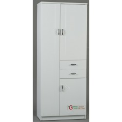 MOBILE BATHROOM RIGO WHITE THREE DOORS AND TWO DRAWERS CM.60 x