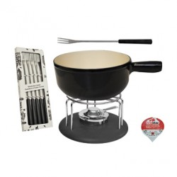 MOHA SET FOR CHEESE FONDUE PCS 9 BLACK HC 26808