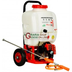MOTOR-PUMP FOR SPRAYING ROUNDUP TROLLEY WITH FUEL TANK AND