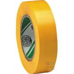 PVC TAPE MM 15 X 10 MT COLOR YELLOW
