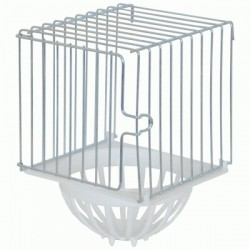 NEST FOR THE BIRDS OUTSIDE IN GALVANIZED WIRE WITH A BACKGROUND