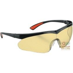 GLASSES BARLINE BLACK FRAME YELLOW LENS TREATMENT ANTI-SCRATCH
