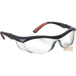 GLASSES BARLINE BLACK FRAME ORANGE LENS CLEAR, ANTI-SCRATCH