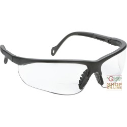 BIFOCAL SAFETY GLASSES NYLON FRAME CLEAR LENS TREATMENT