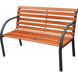 BENCH STEEL AND WOOD MODEL, VIALE cm. 122x64x80h