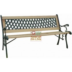 BENCH CAST IRON AND WOOD BLINKY QUEEN 122X56X74H
