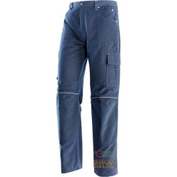 PANTS 100% COTTON CANVAS COLOR BLU TG S XXXL