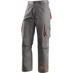 TROUSERS 65% POLYESTER 35% COTTON MULTIPOCKETS COLOR GREY