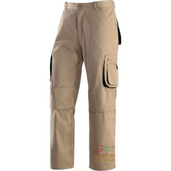 TROUSERS 65% POLYESTER 35% COTTON MULTIPOCKETS KHAKI COLOR NERO