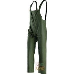 PANTS WITH BIB POLYURETHANE COLOR GREEN TG M XXL