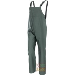 PANTS WITH BIB POLYURETHANE PVC 300 GR SQM COLOR GREEN TG M XXL