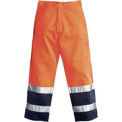 TROUSERS HV TOOLS ORANGE/BLUE TG. XL