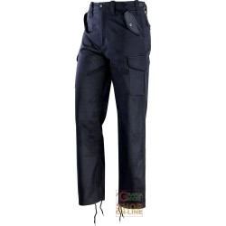 PANTS IN TERITAL MULTIPOCKETS LINED BLUE TG M-XXXL