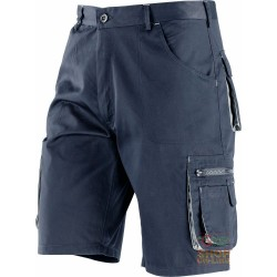 BERMUDA SHORTS 65% POLYESTER 35% COTTON MULTIPOCKETS BLUE GREY