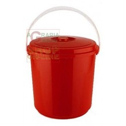 DUSTBIN WITH PLASTIC HANDLE AND LID TRASHY LT. 18