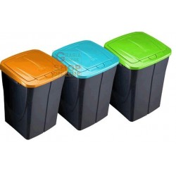 DUSTBIN PLASTIC WASTE COLLECTION YELLOW LT. 15