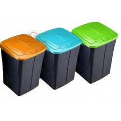 DUSTBIN PLASTIC WASTE COLLECTION GREEN LT. 15