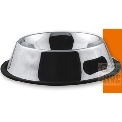 PET TRIBE STEEL BOWL ANTI-SLIP MEASURES 4 CM. 17