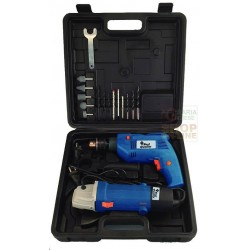 BEST QUALITY SET WITH 2 TOOLS, DRILL TR500E GRINDER SM115