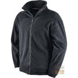 FLEECE 100% POLYESTER, WITH ZIPPER AT THE BOTTOM COLOR BLACK TG