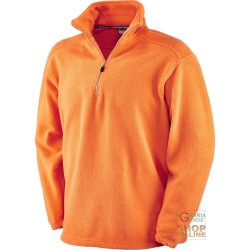 FLEECE 100% POLYESTER WITH A MOCK TURTLE NECK COLLAR COLOR