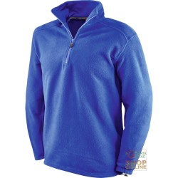 FLEECE 100% POLYESTER WITH A MOCK TURTLE NECK COLLAR COLOR BLUE