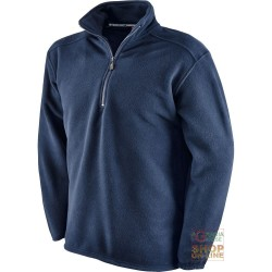 FLEECE 100% POLYESTER WITH A MOCK TURTLE NECK COLLAR COLOR NAVY