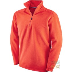 FLEECE 100% POLYESTER WITH A MOCK TURTLE NECK COLLAR COLOR RED
