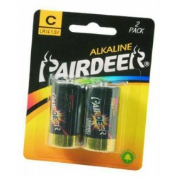 BATTERIES PAIRDEER ALKALINE 2 PIECES 1/2 TORCH