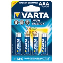 BATTERIES VARTA HIGH ENERGY AAA 4PCS LR03