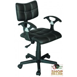 CHAIR OFFICE SWIVEL DORIS BLACK