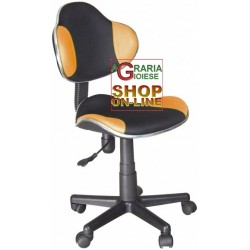ELEGANT OFFICE CHAIR SWIVEL NEW ELVY BLACK-ORANGE