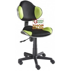ELEGANT OFFICE CHAIR SWIVEL NEW ELVY BLACK-GREEN