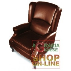 CHAIR RECLINER MOD. CRITIAS DARK BROWN