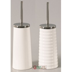 TOILET BRUSH HOLDER FOR BATHROOM CERAMIC AND CHROME-PLATED