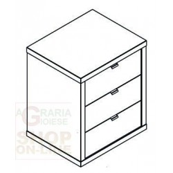 PRACTICAL CHEST OF DRAWERS 46 CM X 65.5 X 65.5 H CEMENT