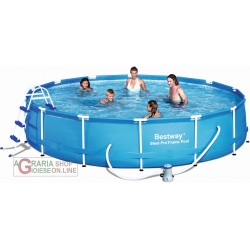 BESTWAY 56066 SWIMMING POOL WITH FRAME COMPLETE DIAM.457X91h