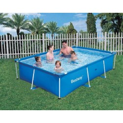 BESTWAY 56082 POOL FRAME WITH PUMP CM.399X211X81h.