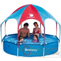 BESTWAY 56193 POOL WITH SELF-SUPPORTING FRAME AND GAZEBO CM.