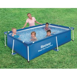 BESTWAY 56402 SWIMMING POOL WITH FRAME AND SPLASH FRAME CM.