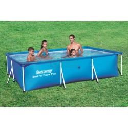 BESTWAY 56404 SWIMMING POOL WITH A RECTANGULAR FRAME CM.