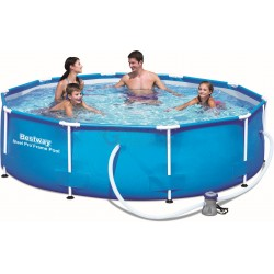 BESTWAY 56408 SWIMMING POOL WITH FRAME, STEEL PRO FRAME AND