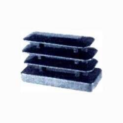 TIPS FINNED RECTANGULAR PLASTIC BLACK MM 20X40