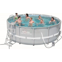 BESTWAY 56444 SWIMMING POOL WITH A CHASSIS POWER STEEL FRAME