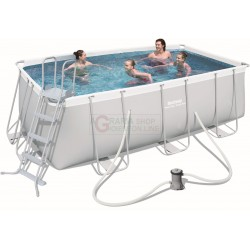 BESTWAY 56456 SWIMMING POOL WITH A CHASSIS POWER STEEL FRAME